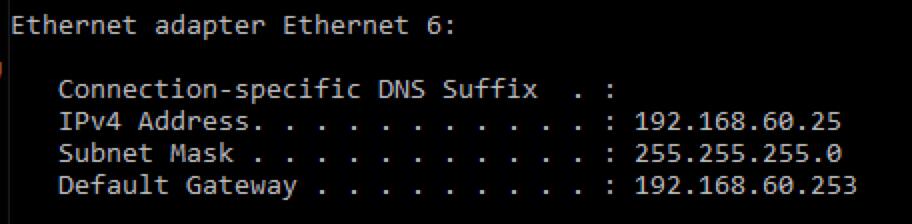 Netwerk adres op windows 10